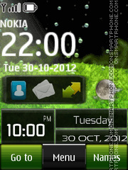 Aquarium Digital Clock theme screenshot