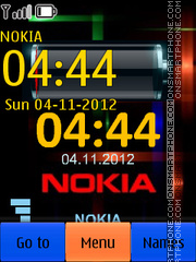 Clock & Battery theme screenshot