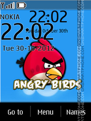Angry Birds Clock 01 theme screenshot