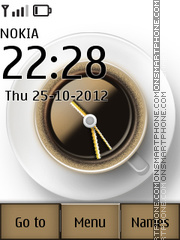 Coffee Cup Clock tema screenshot
