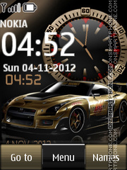 Nissan GT-R Dual Clock theme screenshot
