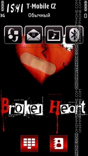 Heart Broken 02 theme screenshot