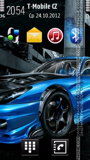 Street Race Car Anna fp50 theme screenshot