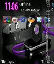 Music Purple es el tema de pantalla