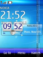 Nokia Blue 5802 theme screenshot