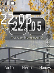 Скриншот темы Autumn Bridge ENG