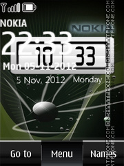 Nokia Space Digital theme screenshot