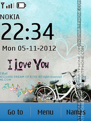 I Love You 10 theme screenshot