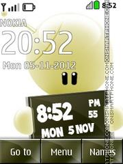 Cool Clock 01 es el tema de pantalla