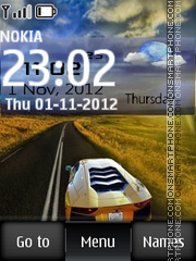 Lamborghini Digital theme screenshot