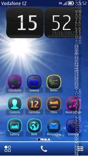 Capture d'écran Sunny Sky 01 thème