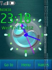 Blue Sony Ericsson Clock theme screenshot