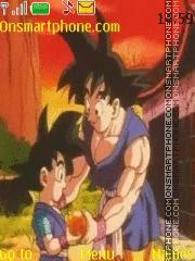 Скриншот темы Goku y Goku jr