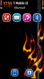 Flames v3 tema screenshot