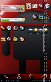 Red Marble Android tema screenshot