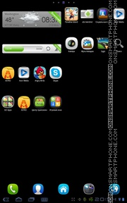 MeeGo 01 theme screenshot