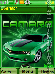Green Camaro theme screenshot