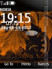 Leaf Dual Clock theme screenshot