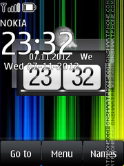 Fancy Clock theme screenshot