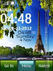 Paris Digital Clock 01 theme screenshot