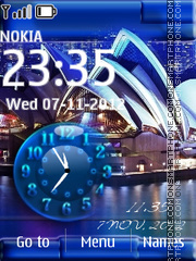 Sydney Dual Clock tema screenshot