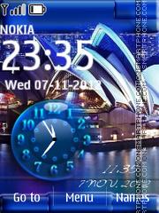Sydney Dual Clock theme screenshot