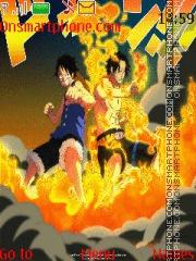 One Piece Ace y Luffy theme screenshot