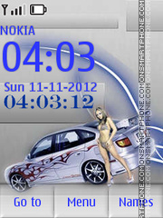 Girl And Auto By ROMB39 theme screenshot