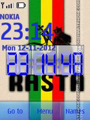 Rasta Clock theme screenshot