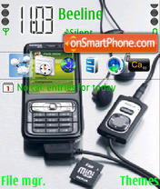Nokia N73 theme screenshot
