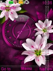 White Flowers theme screenshot