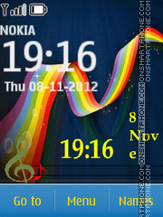 Colorful Music 01 theme screenshot