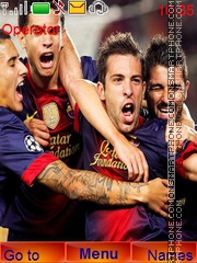 Barcelona Champion tema screenshot