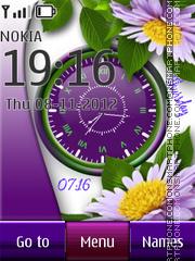 Flower Dual Clock 04 theme screenshot
