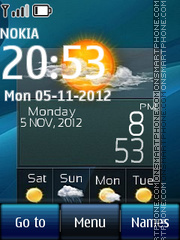 Htc Weather Digital theme screenshot