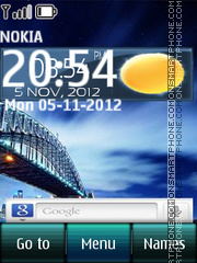 Sydney Harbour Clock theme screenshot
