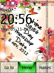 Note Digital Clock theme screenshot