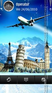 Travelling theme screenshot