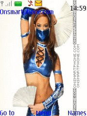 WWE AJ Lee Kitana theme screenshot