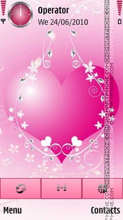 Pink Heart theme screenshot