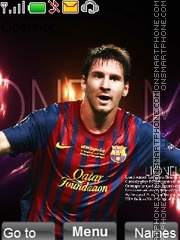 Messi theme screenshot