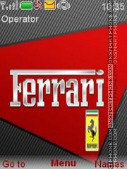 Скриншот темы Ferrari