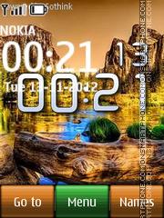 Скриншот темы Nature digital clock
