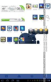 Скриншот темы Face Android