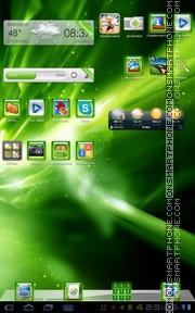 Capture d'écran XBOX Green thème