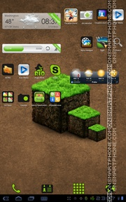 Mine Craft Android Theme es el tema de pantalla