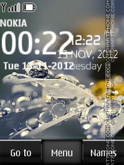 Water Drop Digital theme screenshot