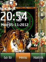 Tiger Dual Clock theme screenshot