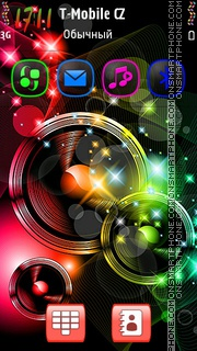 Colourful Abstract 03 theme screenshot