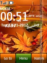 Autumn Digital Clock 01 theme screenshot
